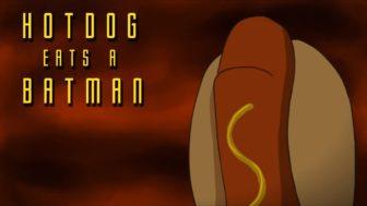 Hotdog Eats a Batman