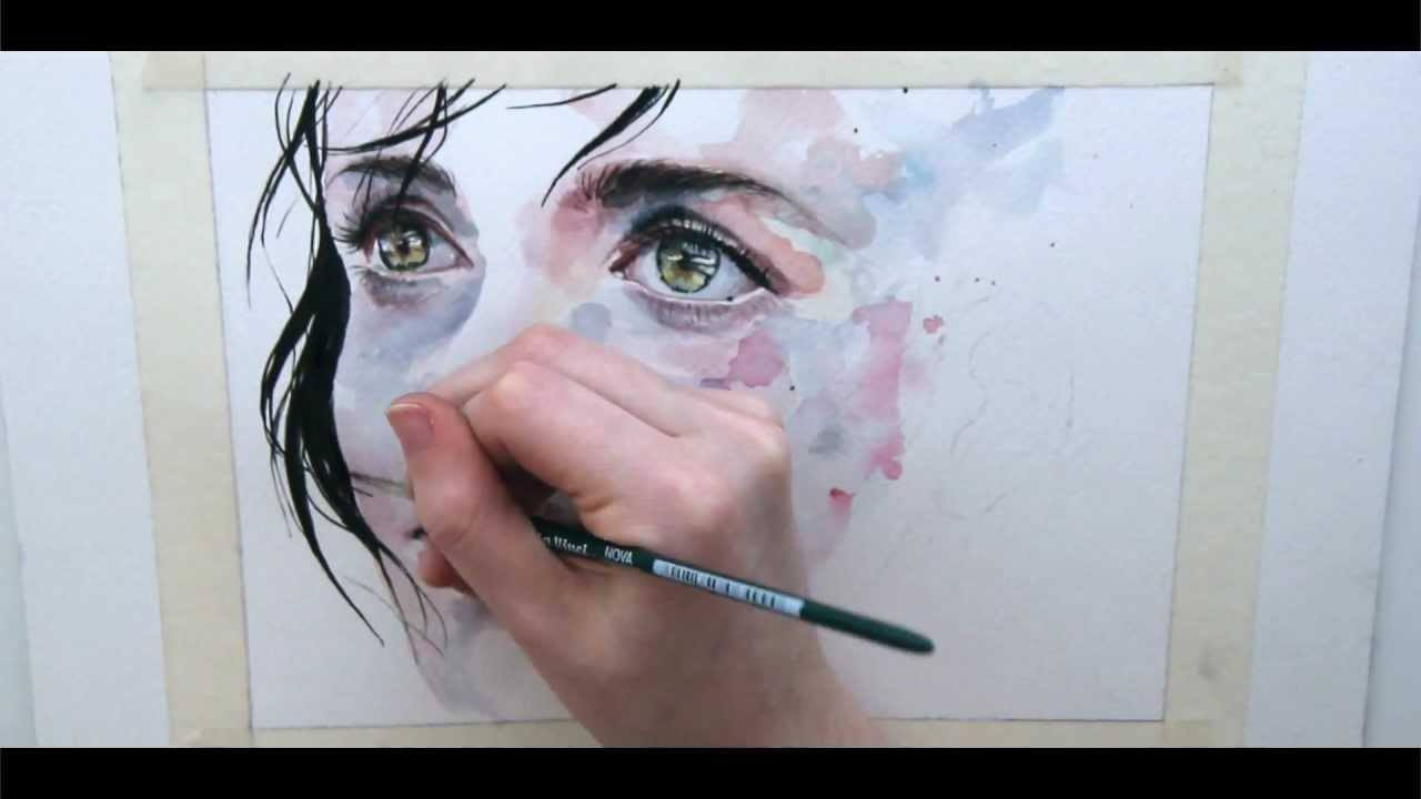 How To Paint Baby Faces In Watercolour You Tube