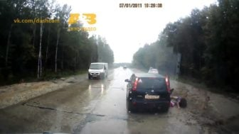 Lucky Escapes: Car Dashcams Reveal Russia's Risky Roads