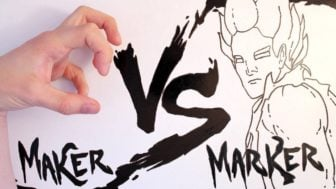 Maker vs Marker: Man Beast Fights an Animated Warrior