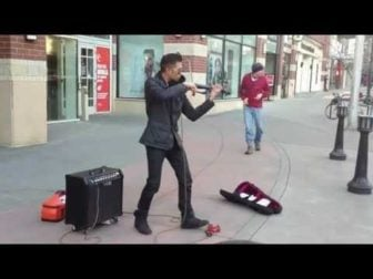 "Talented Electric Violinist plays ""Secrets"" by One Republic"