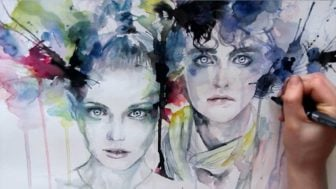 Watercolor Speed Painting Video by Agnes Cecile